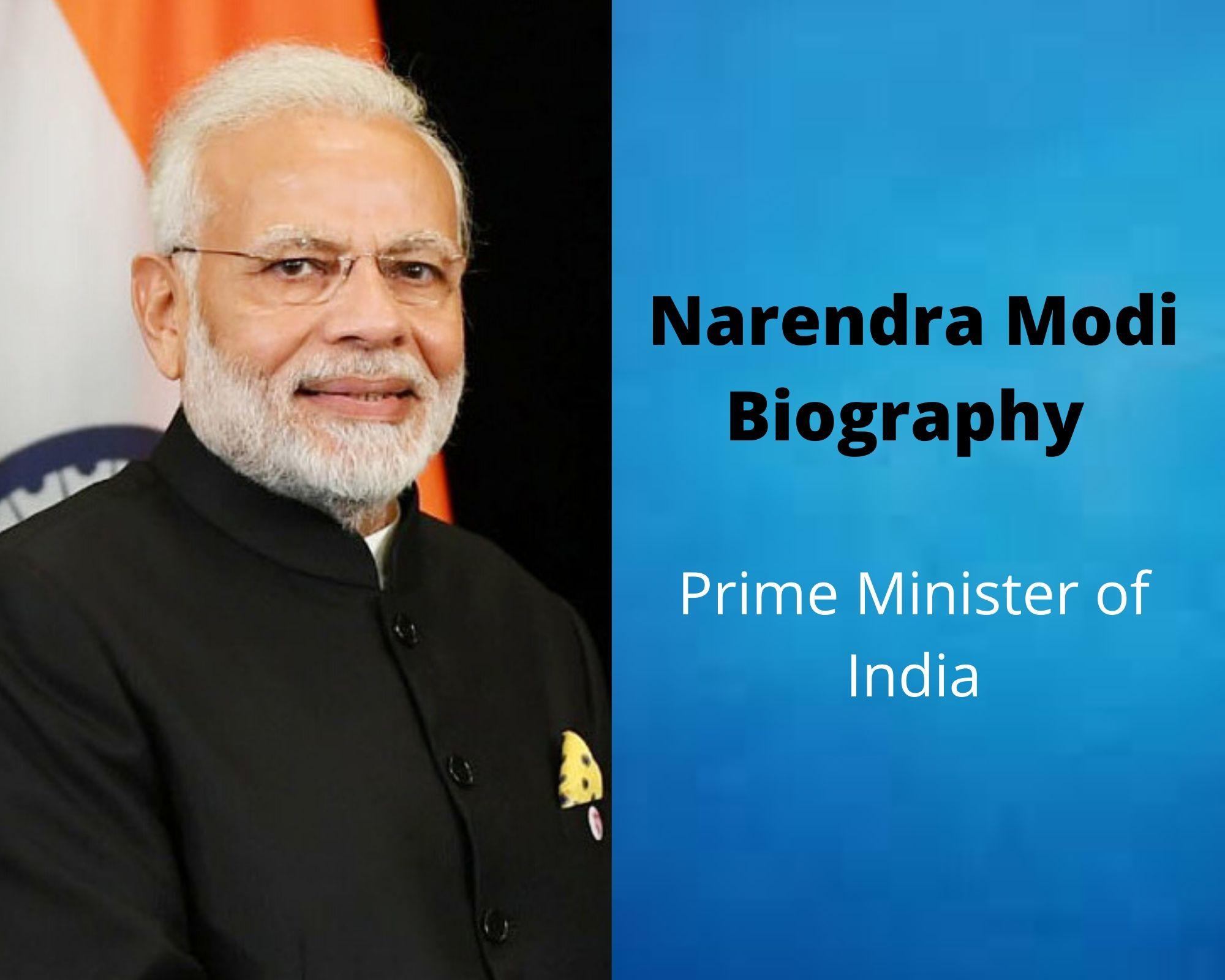Narendra Modi Biography, Wife, Family,Political Life, Education, Salary