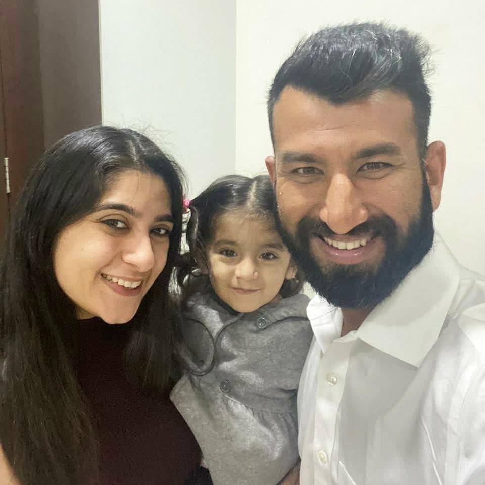 Cheteshwar Pujara family and wife