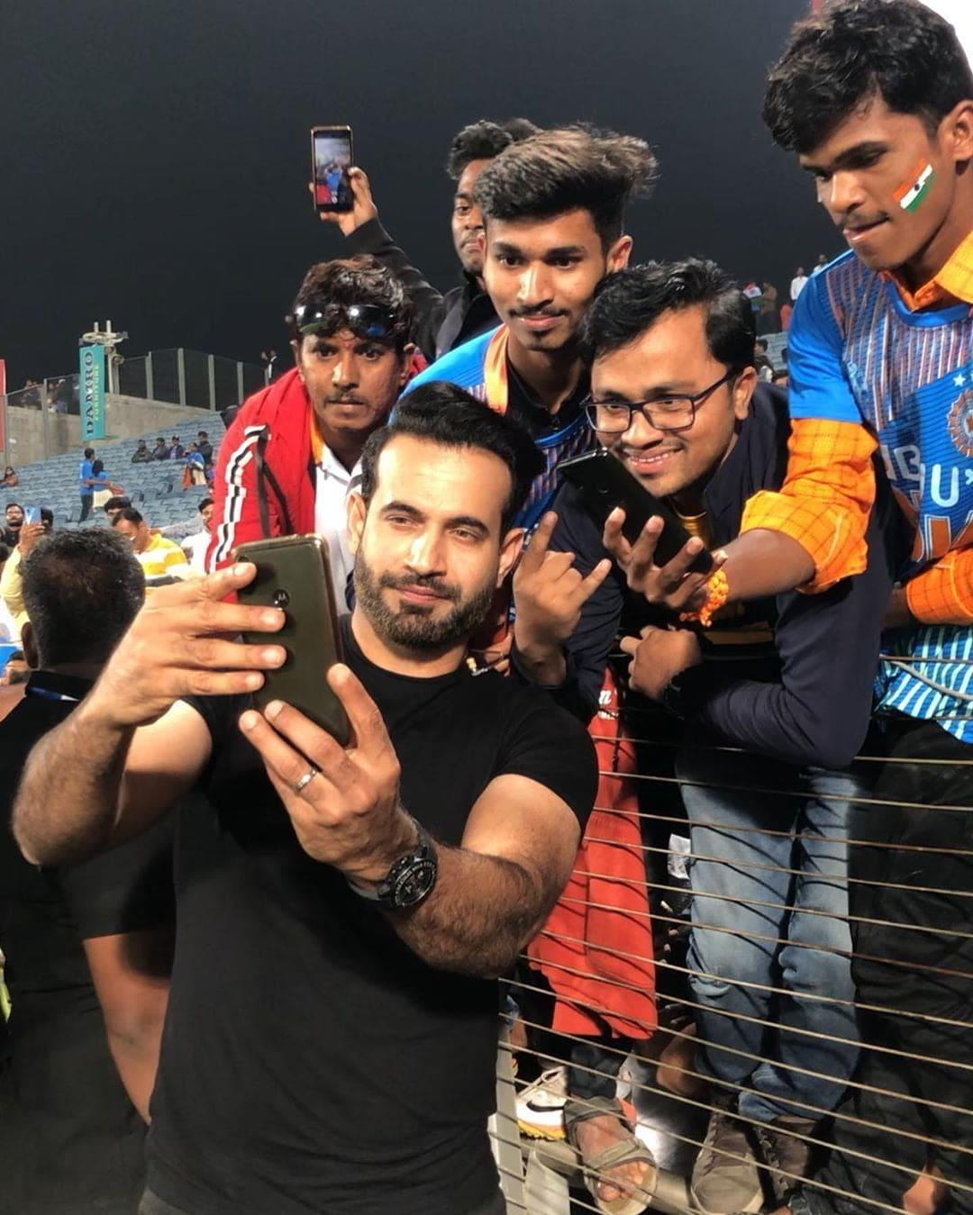 Irfan with fans
