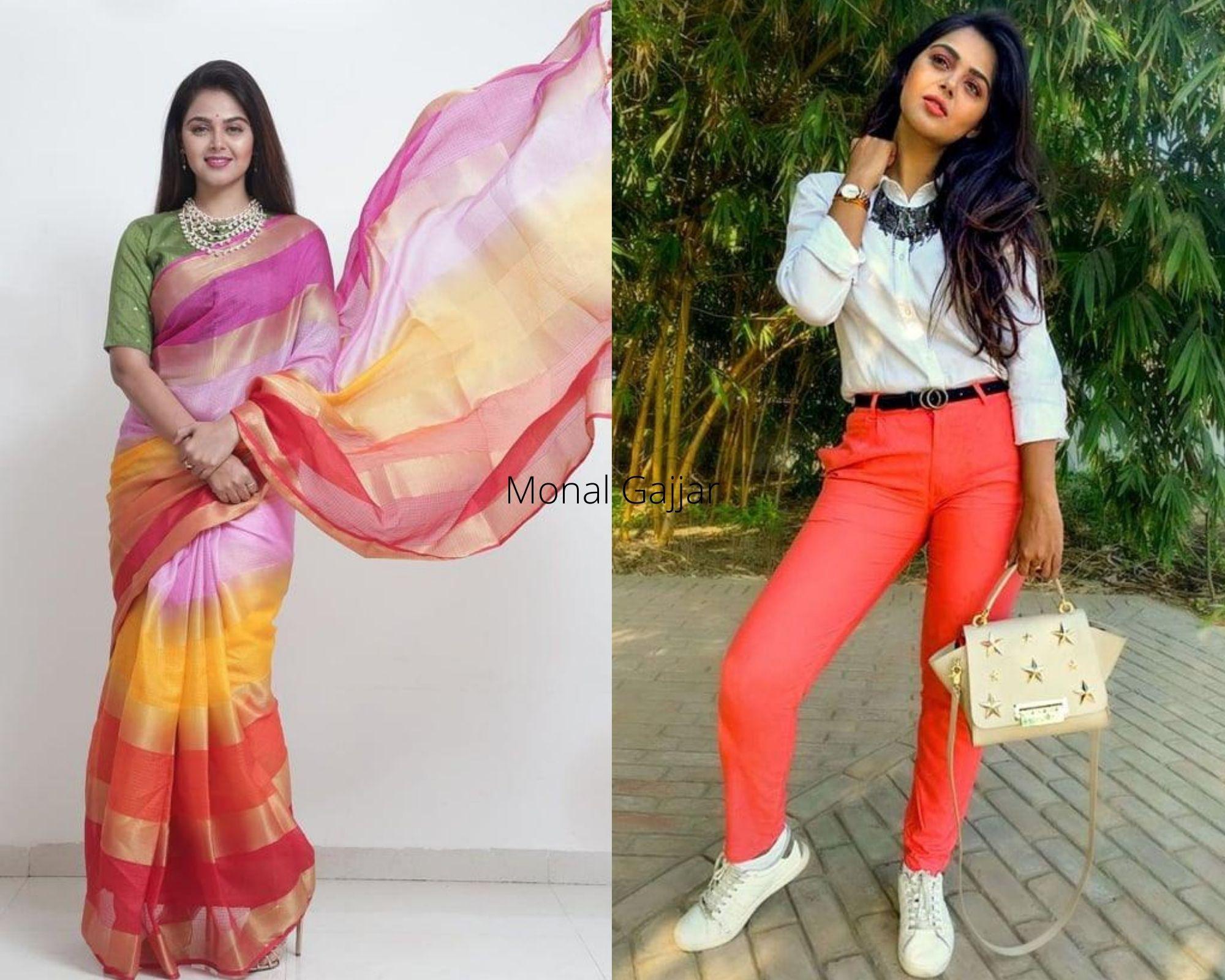 Monal Gajjar in sari