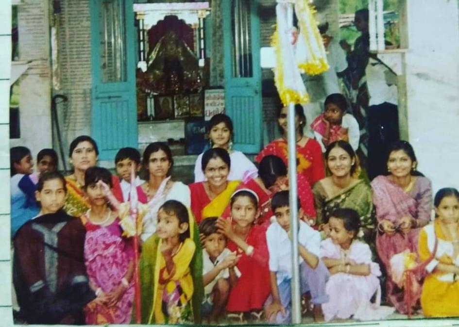Monal Gajjar childhood pic