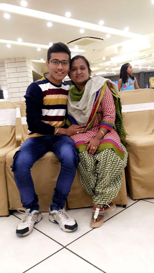 Varun Dave with Mom