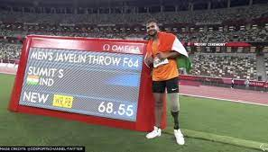 YET ANOTHER GOLD FOR INDIA AS SUMIT ANTIL THROWS THE JAVELIN DIRECTLY INTO OUR HEARTS!